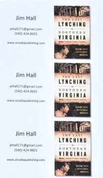 Some of the business cards supplied by History Press.