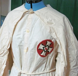 This Klan robe is part of the collection at the Old Jail Museum in Warrenton.