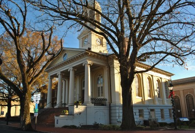 The Fauquier County courthouse in Warrenton.
